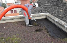 Flat roof gravel removal